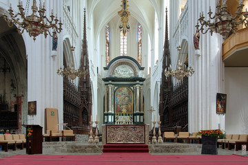 Choir and altar of the Cathedral of Our Lady in Antwerp