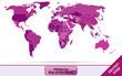Weltkarte mit Grenzen in Violett