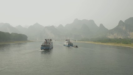 The beautiful lijiang river waterway