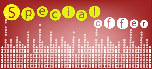 Special Offer Background for Special Price Products