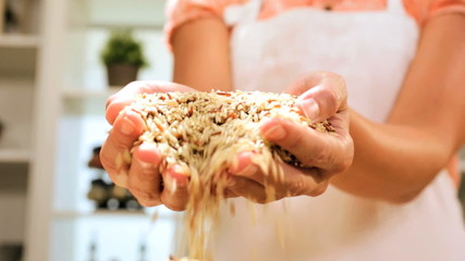 Close Up Bowl Healthy Dry Cereal Grains Staple World Food