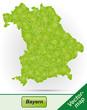 Grenzkarte von Bayern in Grün