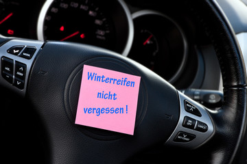 Winterreifen - Erinnerung