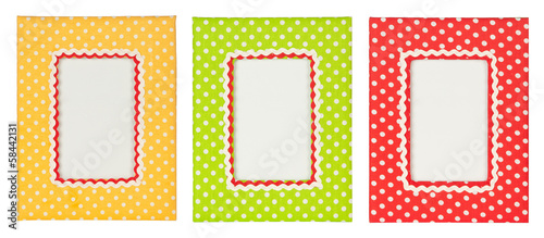 Polka dots photo frame