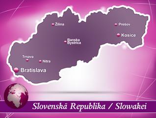 Slowakei Abstrakter Hintergrund in Violett