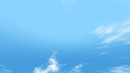 スピード雲の流れ