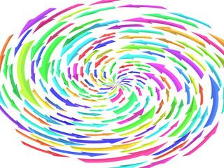中央に集中する矢印のイメージ