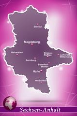 Sachsen-Anhalt Abstrakter Hintergrund in Violett