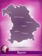 Bayern Abstrakter Hintergrund in Violett