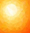 Abstract orange sunny background