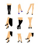 womans legs set in various positions