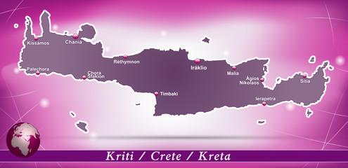Kreta Abstrakter Hintergrund in Violett