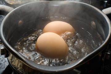 kochende Eier