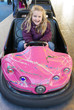 girl in bumper car