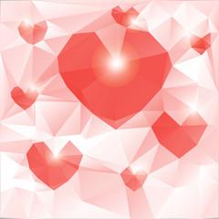 The mood of love. Polygonal geometric figures.
