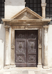 old door in dubrovnik