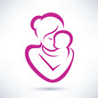mom and baby vector icon - 58446182