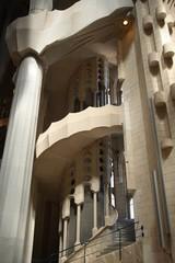 La Sagrada Familia interior staircase