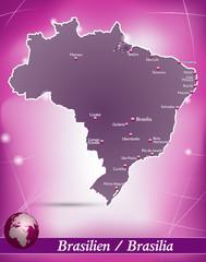 Brasilien Abstrakter Hintergrund in Violett