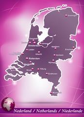 Niederlande Abstrakter Hintergrund in Violett
