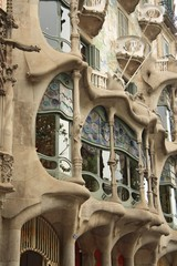 The facade of the house Casa Batllo in Barcelona