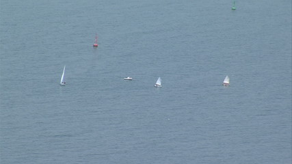 Three sailing boat in the Black Sea