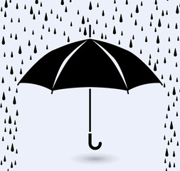 vector symbol of umbrella protection from rain
