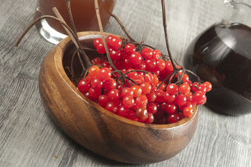 Guelder (arrowwood) berries and  syrup