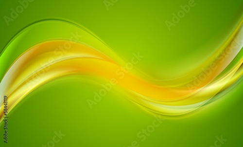 Bright wavy bector abstract background