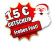"""Siegel """"15 Euro Gutschein - Frohes Fest!"""""""