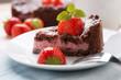 Schokotorte mit Erdbeercreme-Füllung