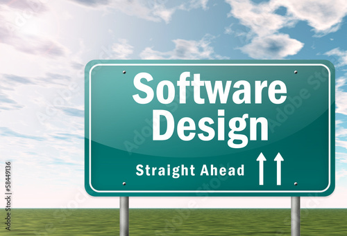 "Highway Signpost ""Software Design"""