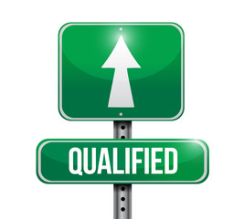 qualified road sign illustration design