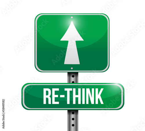 rethink road sign illustration design