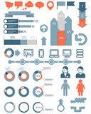 Set of infographic elements and icons