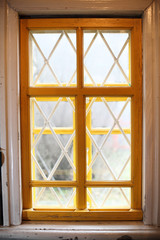 Window with bars.