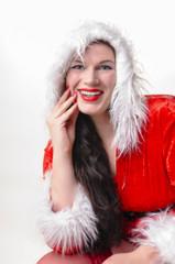 Portrait Weihnachtsfrau