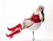 Sexy Weihnachtsfrau mit Stiefeln