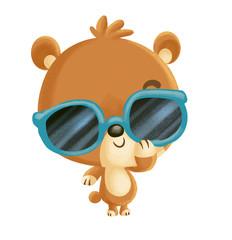 oso con gafas
