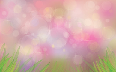 Vector spring bokeh background.