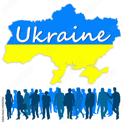 Map of Ukraine and Ukrainian people