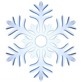 Blue icy decorative snowflake