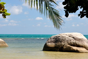 Secluded beach thailand