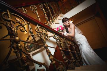 bride in the classic interior