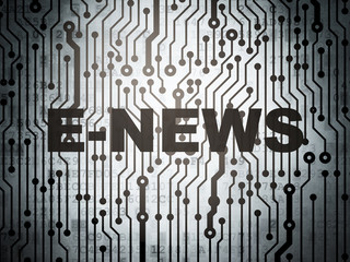 News concept: circuit board with E-news