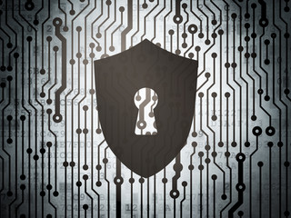 Safety concept: circuit board with Shield With Keyhole