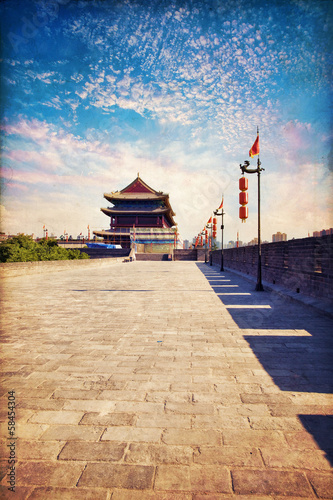 Foto op Aluminium Xian Xian - ancient city wall