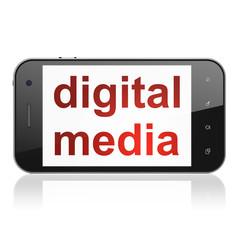 Marketing concept: Digital Media on smartphone