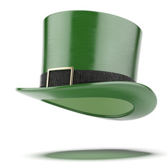 Green hat. Saint Patricks day