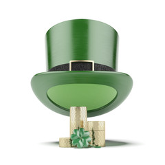 Green hat with coins